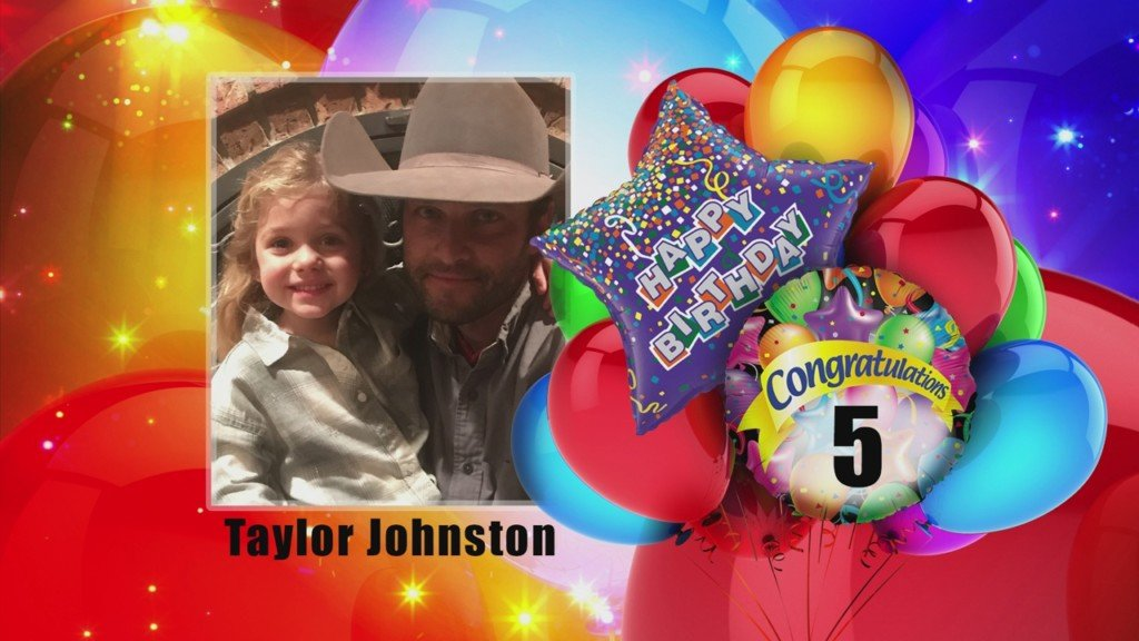 birthday card for Taylor Johnston