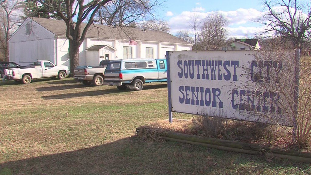 Southwest City Senior Center Sign