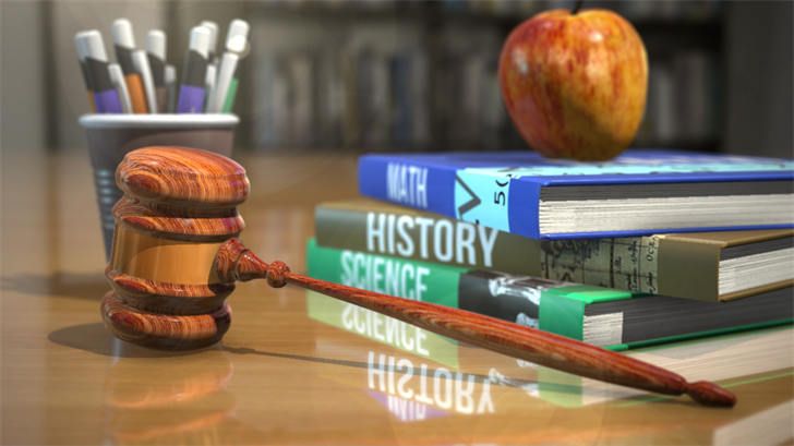 books, gavel