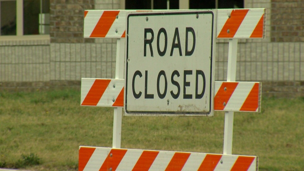 Closed roads in Neosho