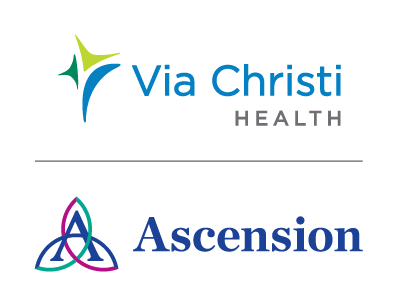 Via Christi Hospital, Ascension logos