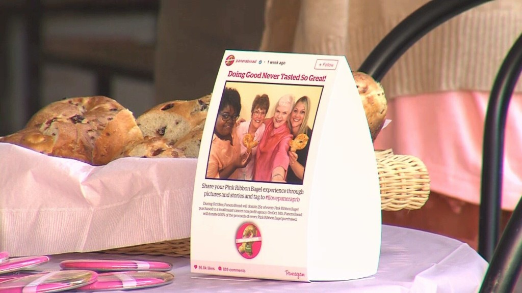 Panera Bread Brings Back Pink Ribbon Bagels To Fight Breast Cancer