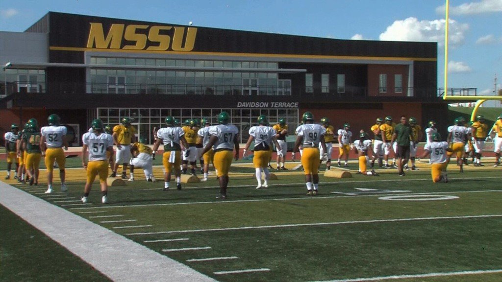 Missouri Southern football end zone