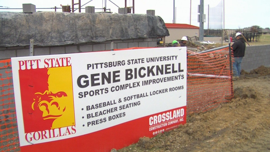 Pitt State Announces $1.8M Project for Baseball/Softball Complex