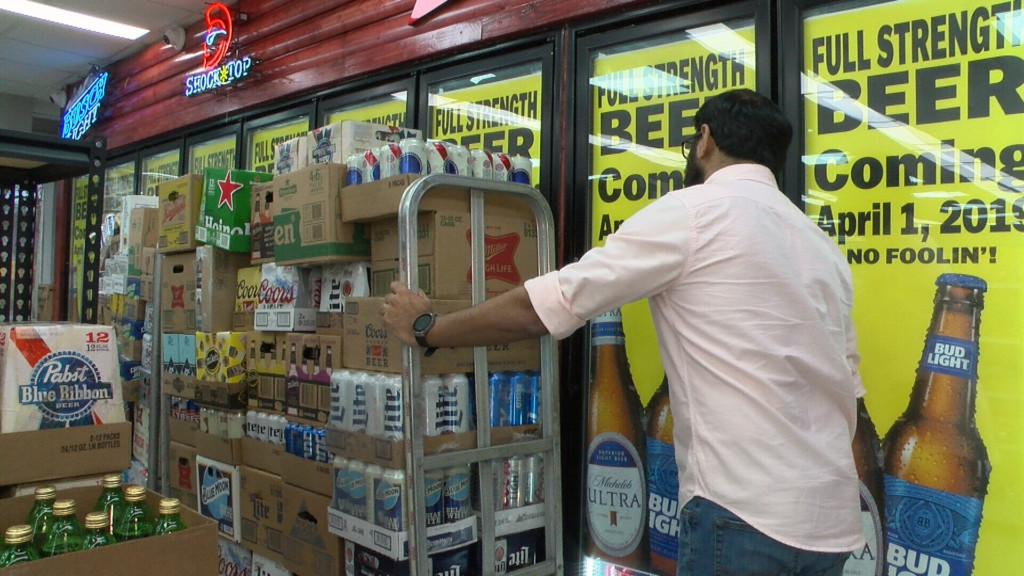 Kansas stores respond to law change regarding alcohol sales