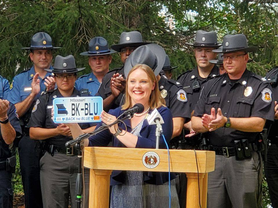 Back the Blue License Plate Unveiled