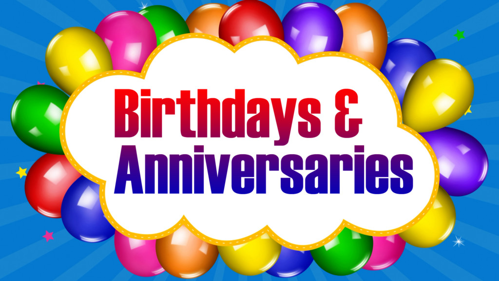 Birthdays and Anniversaries for Morning Show