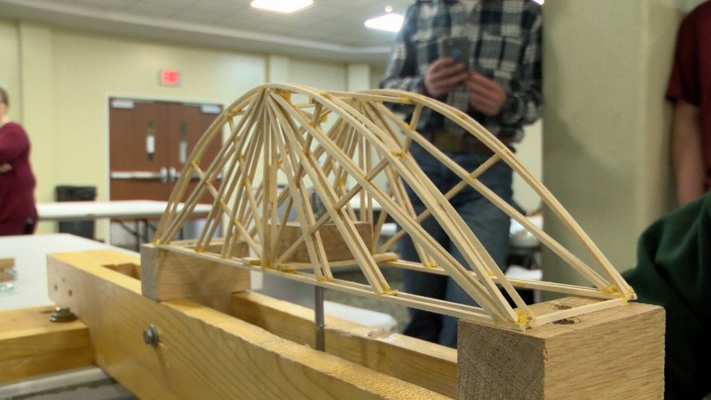 Bridge building competition held at MSSU for local students
