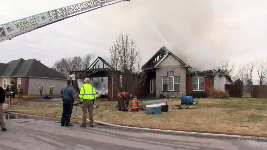 Firefighters battle flames at home near Carl Junction