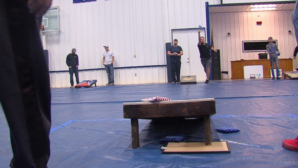 Commerce fire department uses corn hole and chili to raise funds