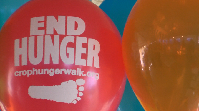 The Ozark Area CROP Hunger Walk held at Webb City Farmers Market