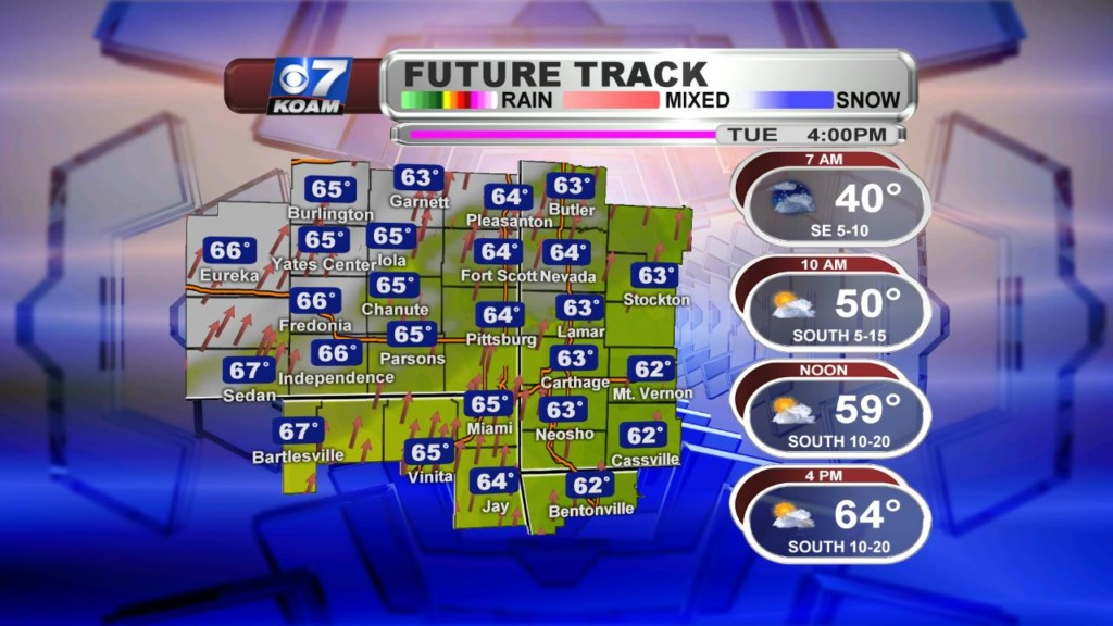 Late Monday March 18th – Rain chances knocking on the door