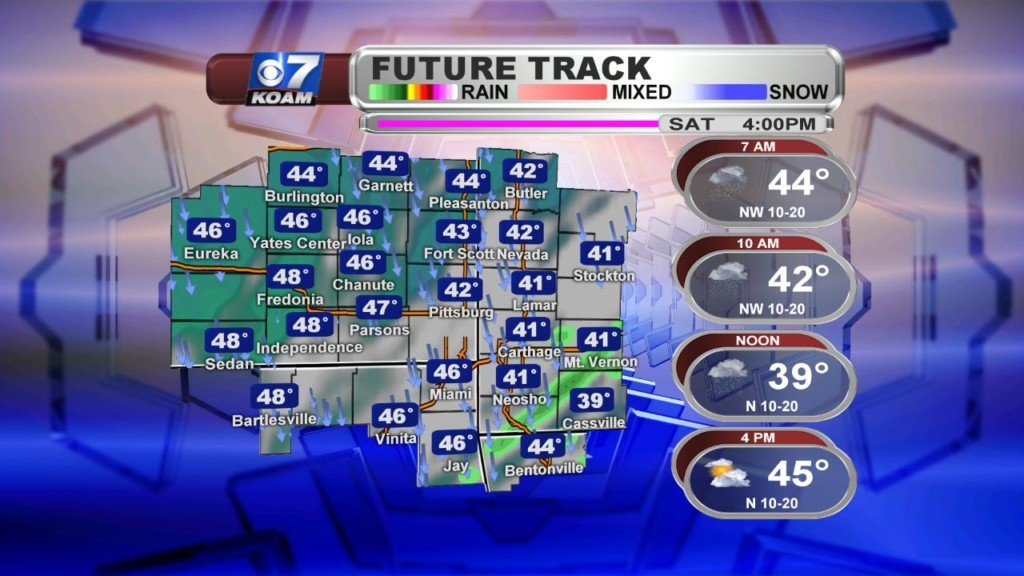 Early Saturday March 30th – Turning much cooler today