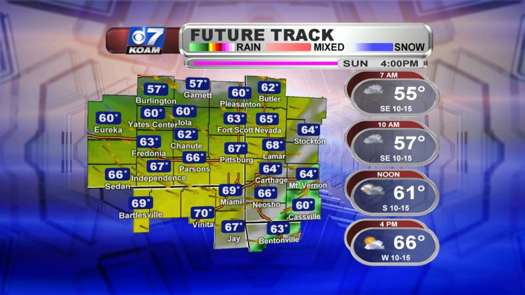 Late Saturday March 23rd – Rain sticks around to start Sunday out