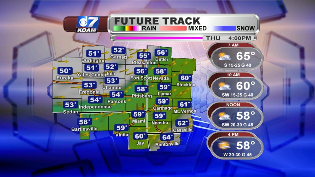 Late Wednesday April 10th – Turning MUCH cooler for Thursday