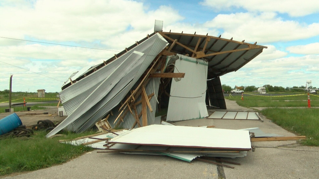 Lamar airport looks to rebuild after taking hit from strong winds
