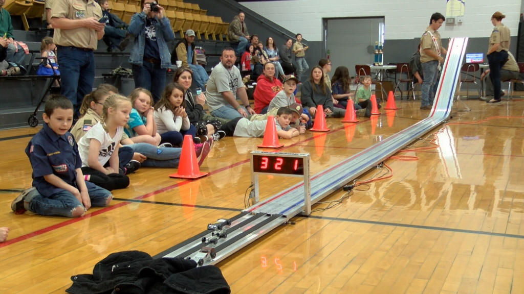 Cub Scouts compete in Pinewood Derby