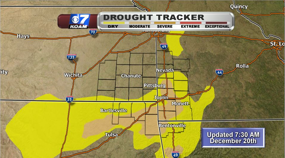 Updated drought tracker shows moderate drought in area