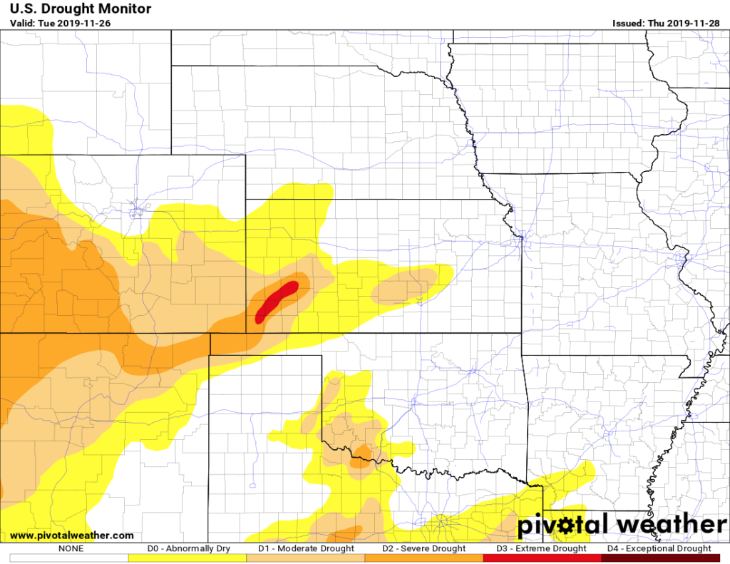 Drought monitor was kind to us last week