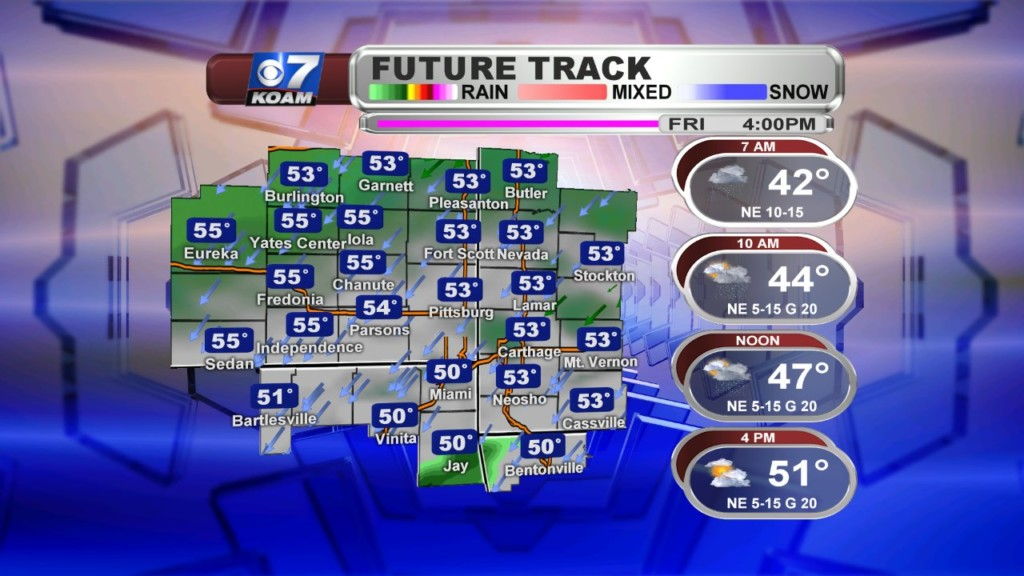Late Thursday October 24th – Rain chances for parts of the weekend