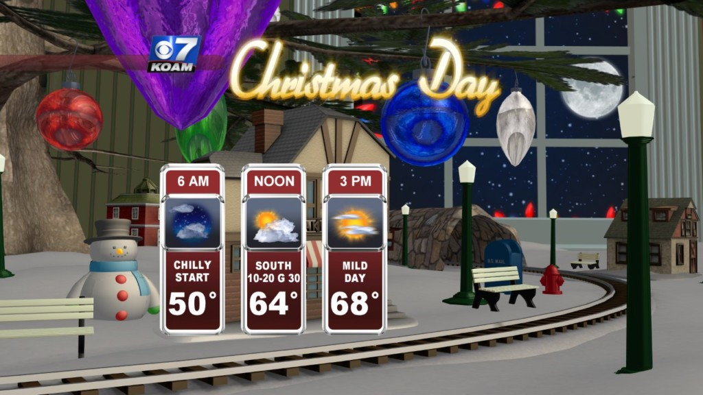 Christmas Eve 2019 – Mild holiday before rain moves back in