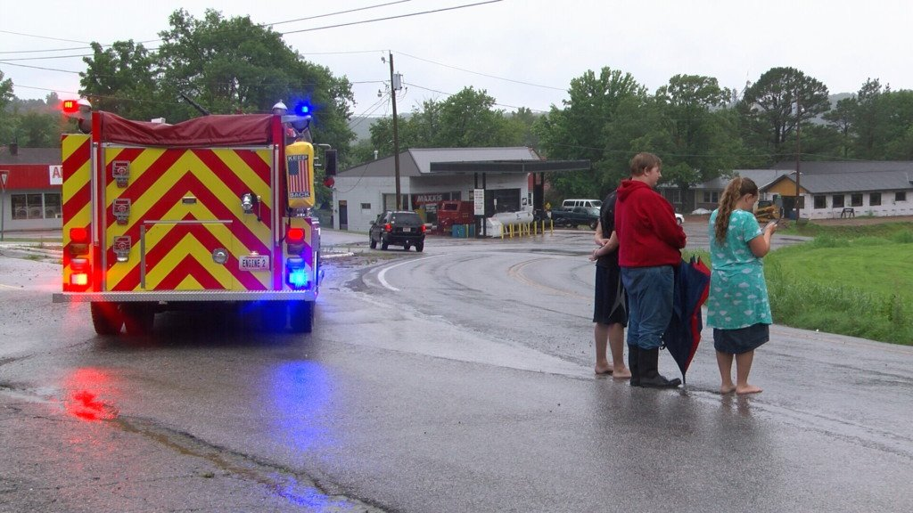 Flooding hits McDonald County, lightning strikes up gas fire in Anderson