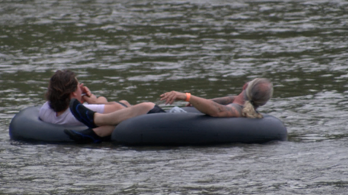 High waters at Elk river could endanger those on kayaks or rafts