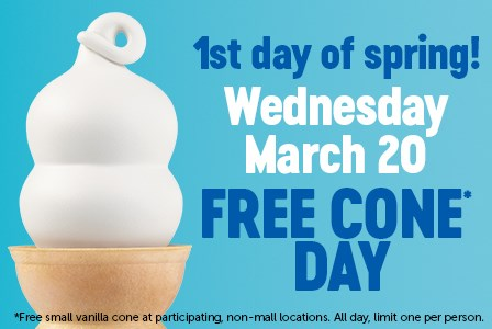 Dairy Queen offers free cones for first day of spring
