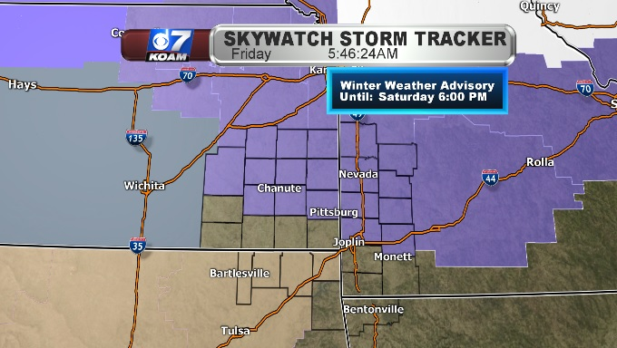Winter Weather Advisories for Four States into weekend