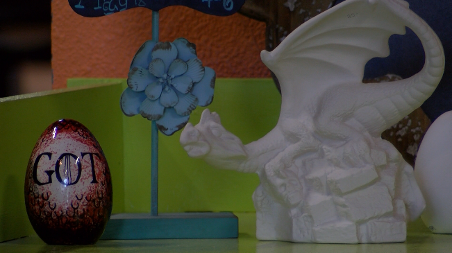 Firehouse Pottery holds Game of Thrones painting event