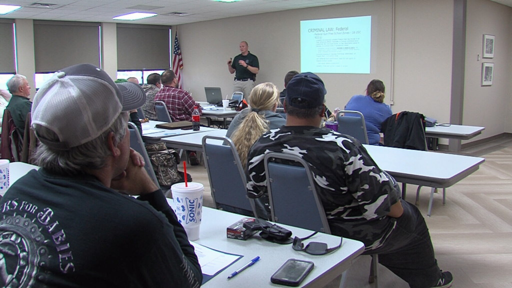 Concealed carry class educates shooters in Kansas