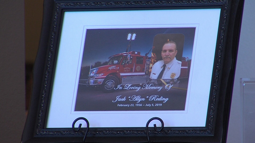"""Late fire chief Jack """"Allyn"""" Reding honored with special procession and funeral"""