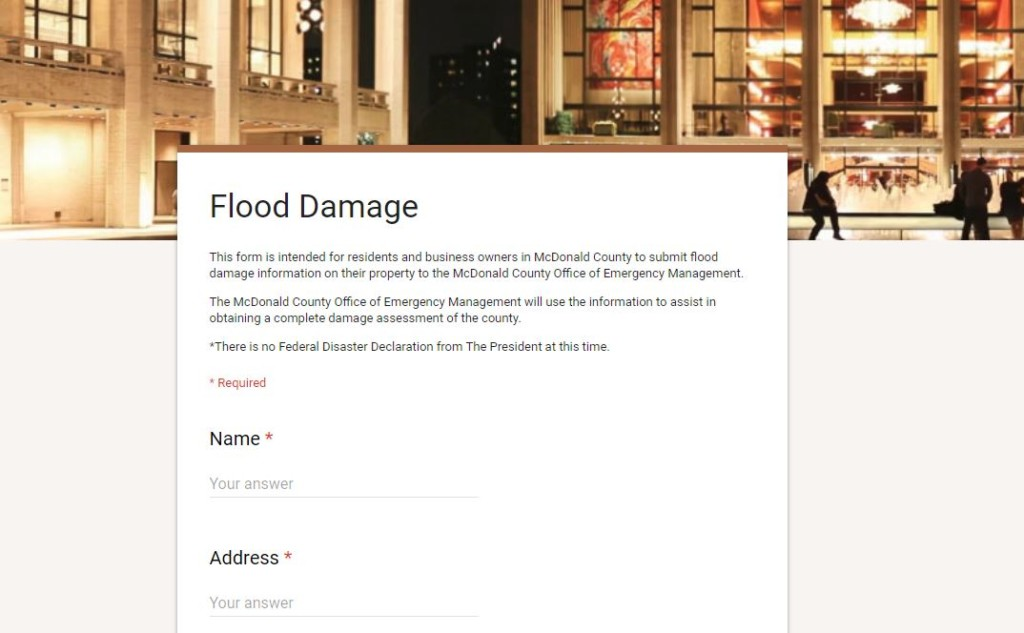 McDonald County flood damage assessment form released