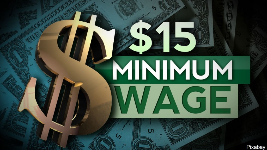 Kansas bill is introduced to raise minimum wage to $15 by 2021