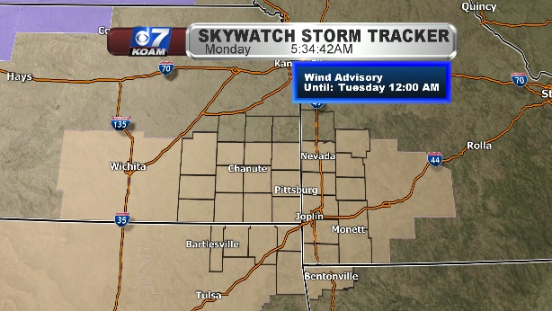Wind Advisories for Monday