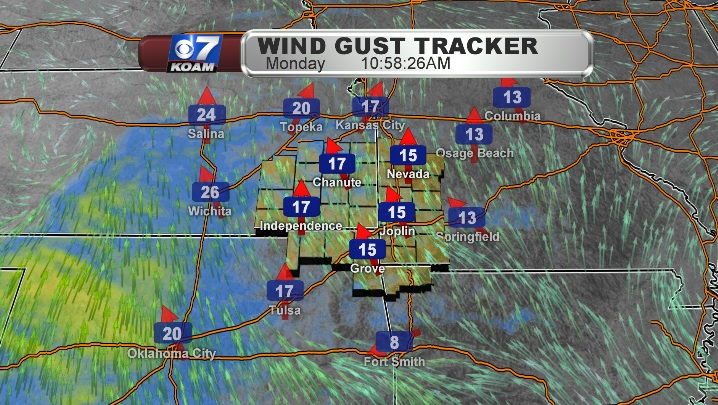 Strong winds on Christmas Eve morning