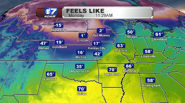 Another cold front blasts the Midwest