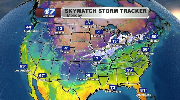 Early Wintry Conditions for much of the Eastern 2/3rds of the U.S.
