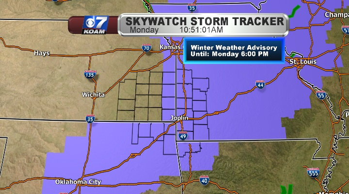 Winter Weather Advisory now in effect for Four States