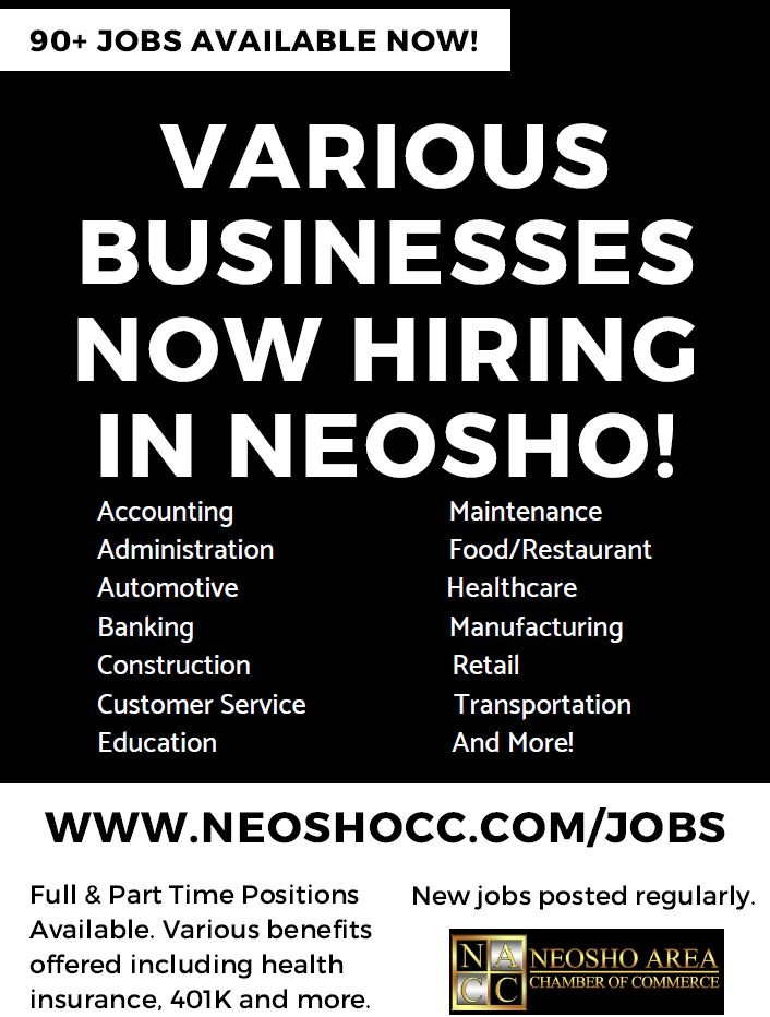 Neosho looks to fill 90+ jobs within the city