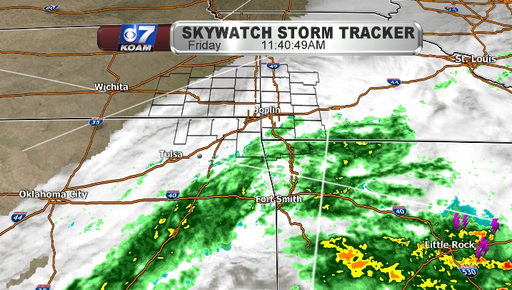 Rain falls in the south, while north begins to clear
