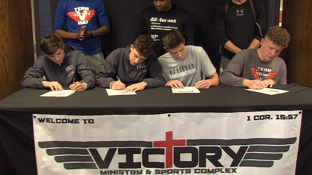 Four student athletes sign National Letters of Intent to play collegiate basketball