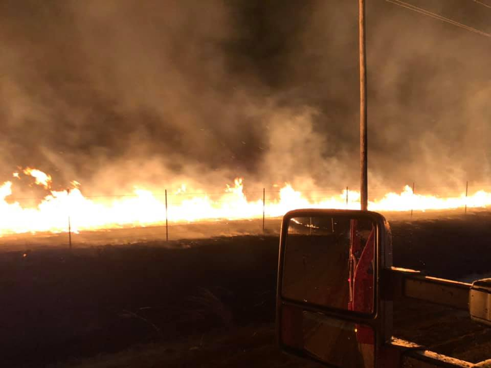 High winds fuel several large fires in Kansas and Oklahoma