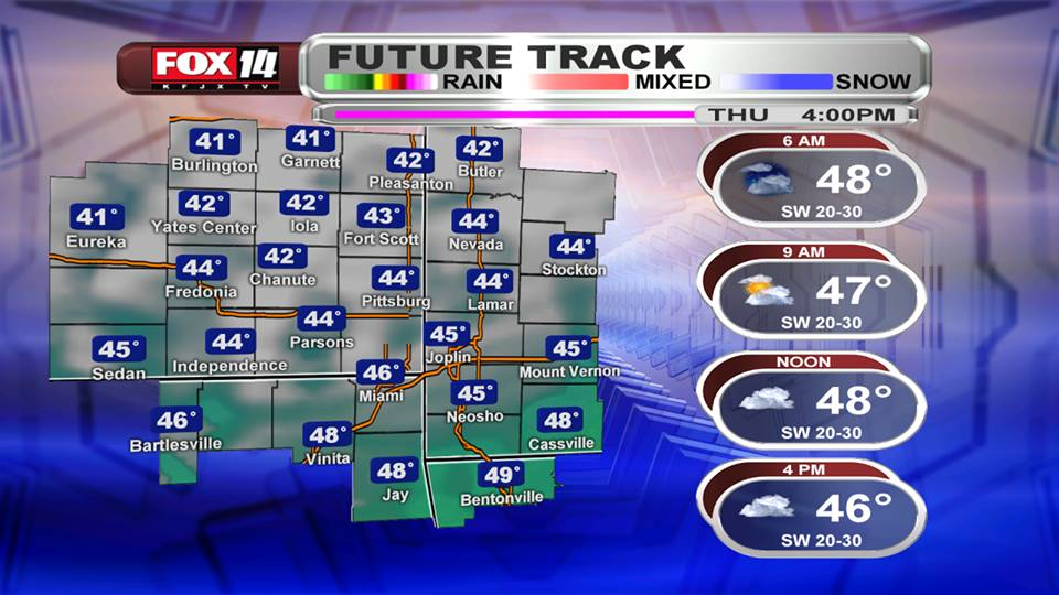 Thursday AM Blog:  The winds continue, also turning colder.