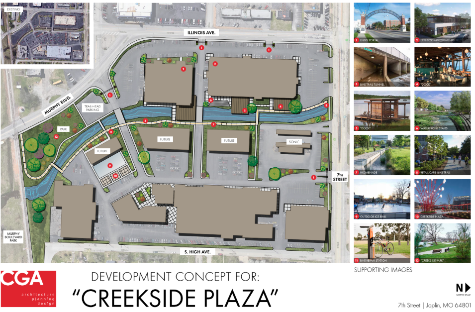 Joplin Plaza to be redeveloped into 'Creekside Plaza', as new retail/entertainment destination
