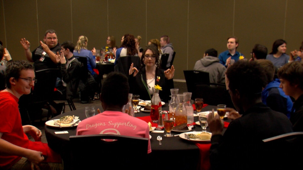 Local high school students get a lesson in formal table etiquette