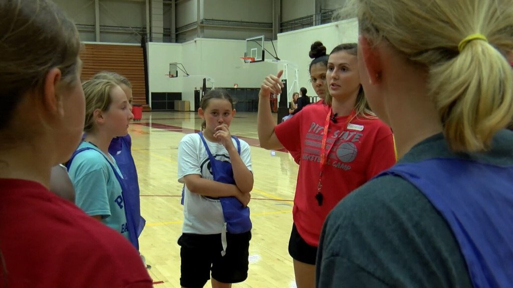 Pitt State Women's Basketball grade school camp wraps up Tuesday