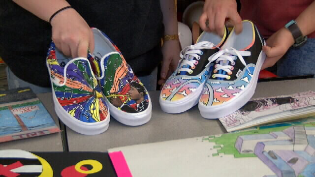CJ art students finalists in Vans custom culture shoe contest