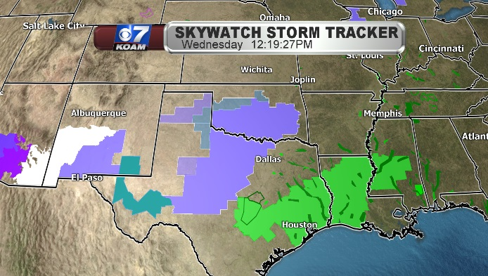 Warnings and Watches with Southern Plains Storm