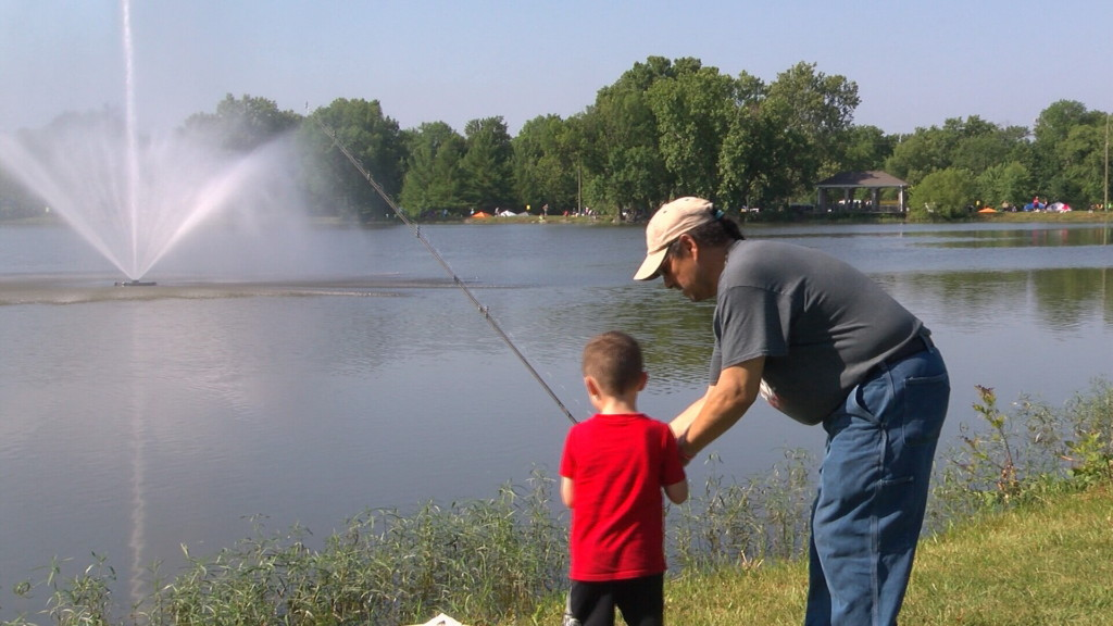 Kids hooked on fishing at 18th Annual Kids' Free Fishing Day